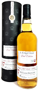 Dailuaine Scotch Single Malt 17 Year By A.D. Rattray 1998...